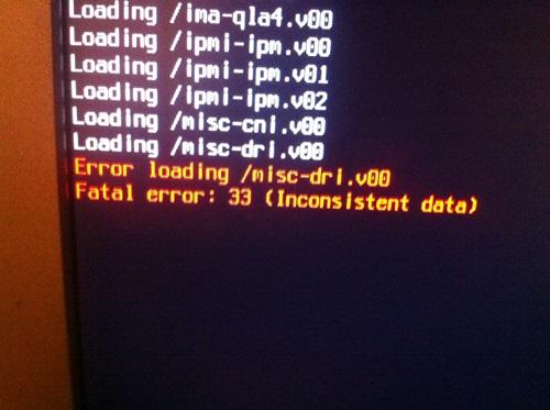 vmware fatal error 33